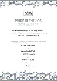 Pride in the job award 2015