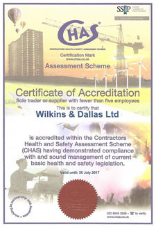 CHAS Certificate 2016/17