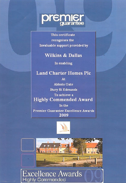 Premier Guarantee Excellence awards 2009