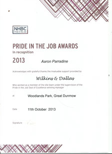 Pride in the job awards 2013