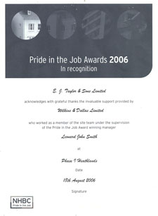 Pride in the job awards 2006