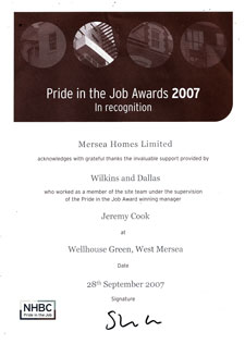 Pride in the job awards 2007